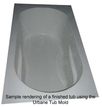 Expressions Ltd Concrete Bathtub Fiberglass Mold The Urbane Tub
