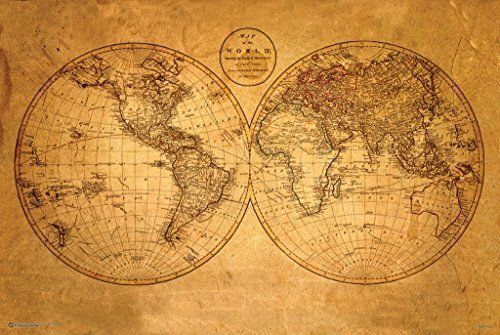 map quest maps globes in history art craft decor old map quest maps globes in history art craft decor old world map poster gumiabroncs Choice Image