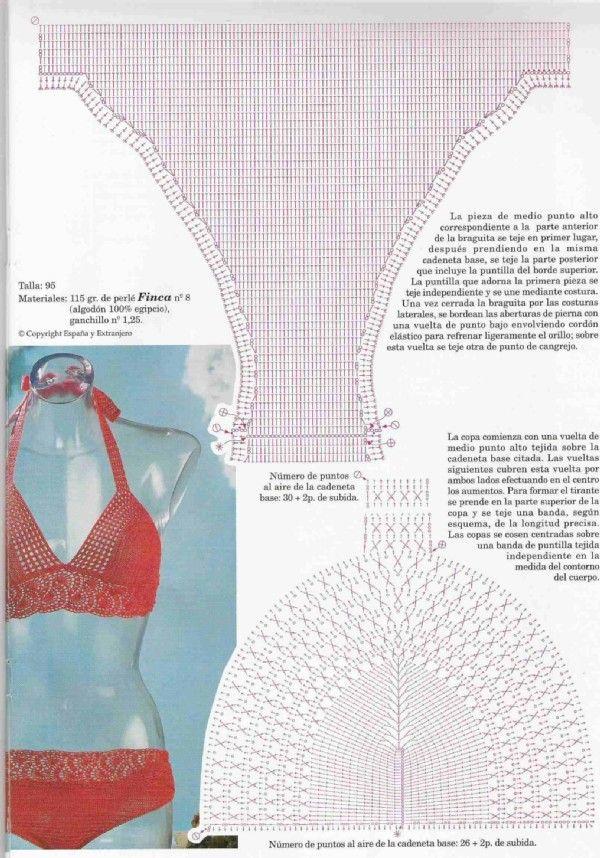 12+. Пляжные ансамбли и купальники | Crochet tops | Pinterest