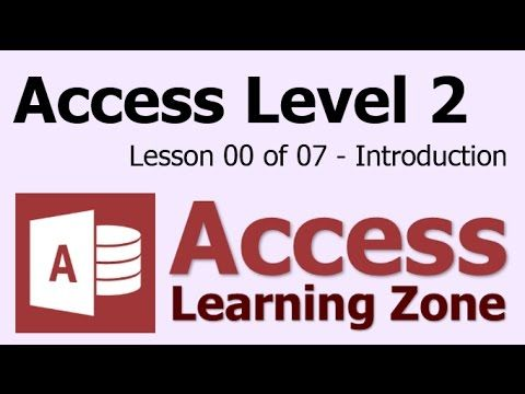 Microsoft Access Tutorial Beginner Level 4 Introduction - YouTube