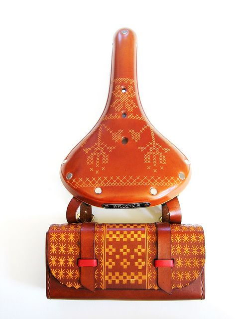 Bike Bag and Cross Stitch Saddle - REALLY sure I need this.  Well, maybe a little broader!  :)