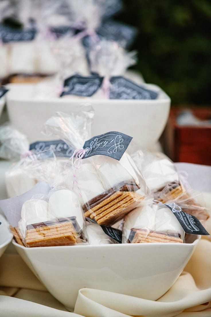 Autumn Outdoor Dessert Idea | Individual packaged S mores for guests ...