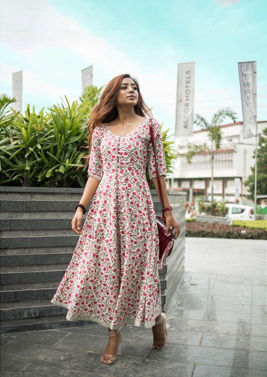 Retro Redefined Multicolor Lily Block Print Maxi Dress Maxi Dress Cotton Cotton Dress Summer Cotton Short Dresses [ 1200 x 850 Pixel ]