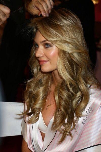 Victoria's secret hair curls waves