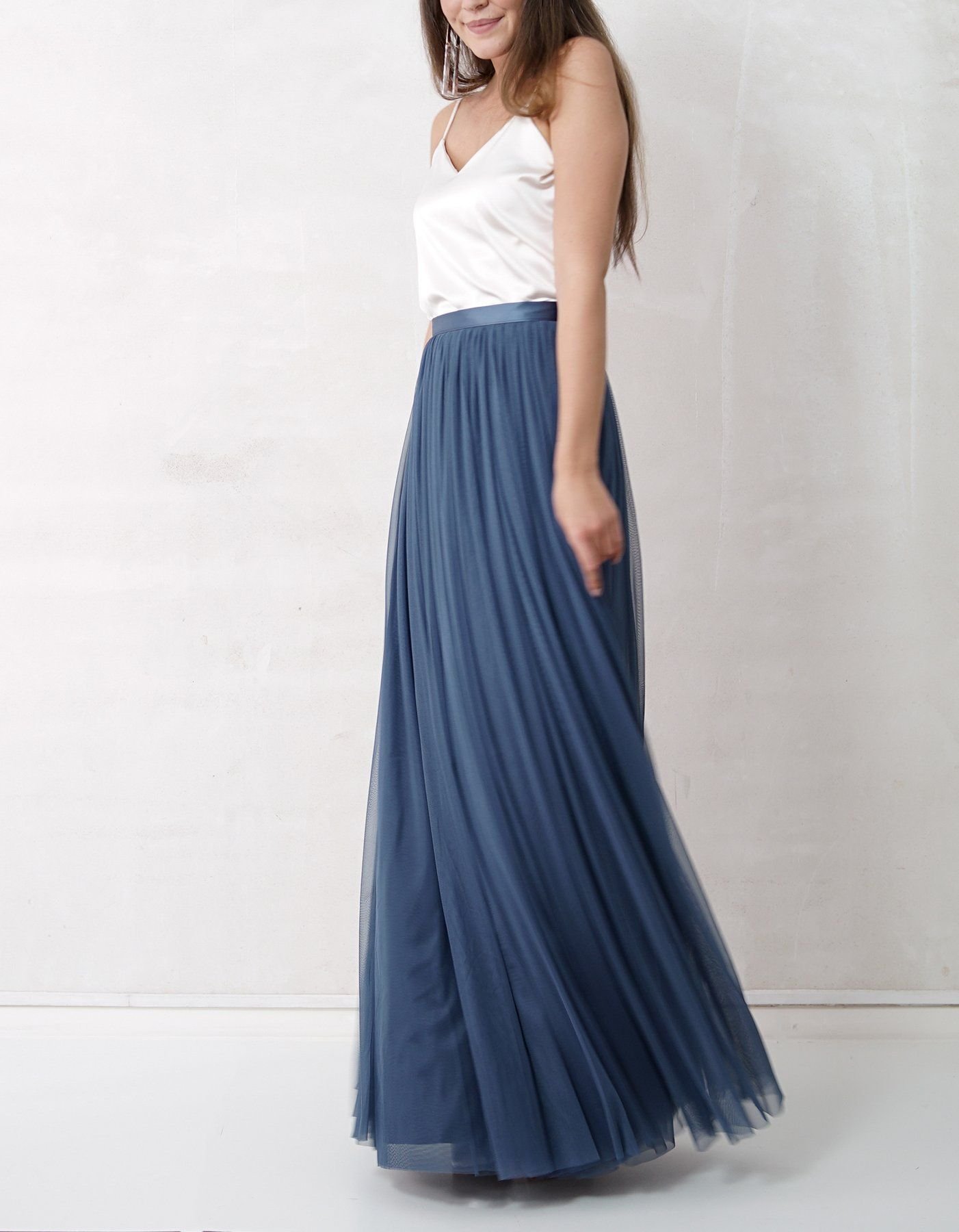 neu: constant love tüll rock lang blau braut hochzeitskleid