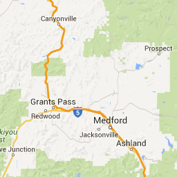Map With Driving Directions To Prospect Ohv Trail System In Oregon