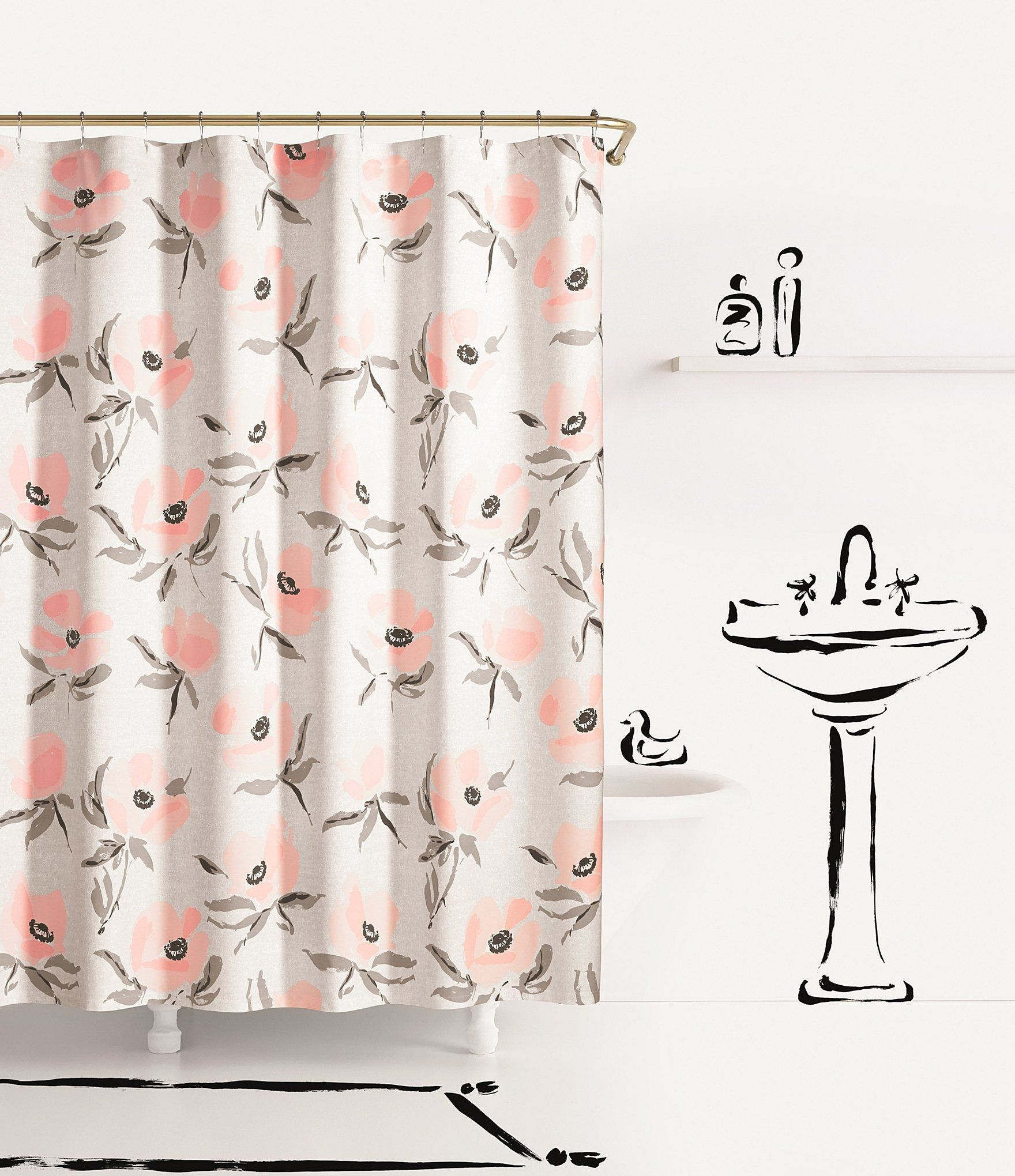 Shop For Kate Spade New York Poppies Shower Curtain At Dillards