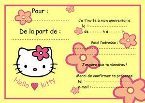 carton anniversaire gratuit imprimer invitation hello kitty le blog de lulu berlu des. Black Bedroom Furniture Sets. Home Design Ideas