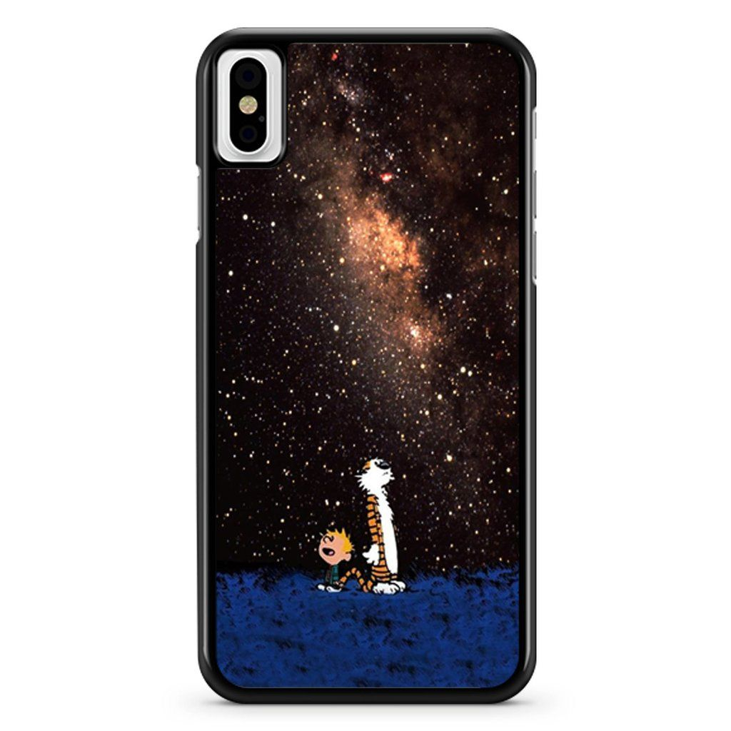 Calvin And Hobbes Looking At Stars Wallpaper iPhone X / XS