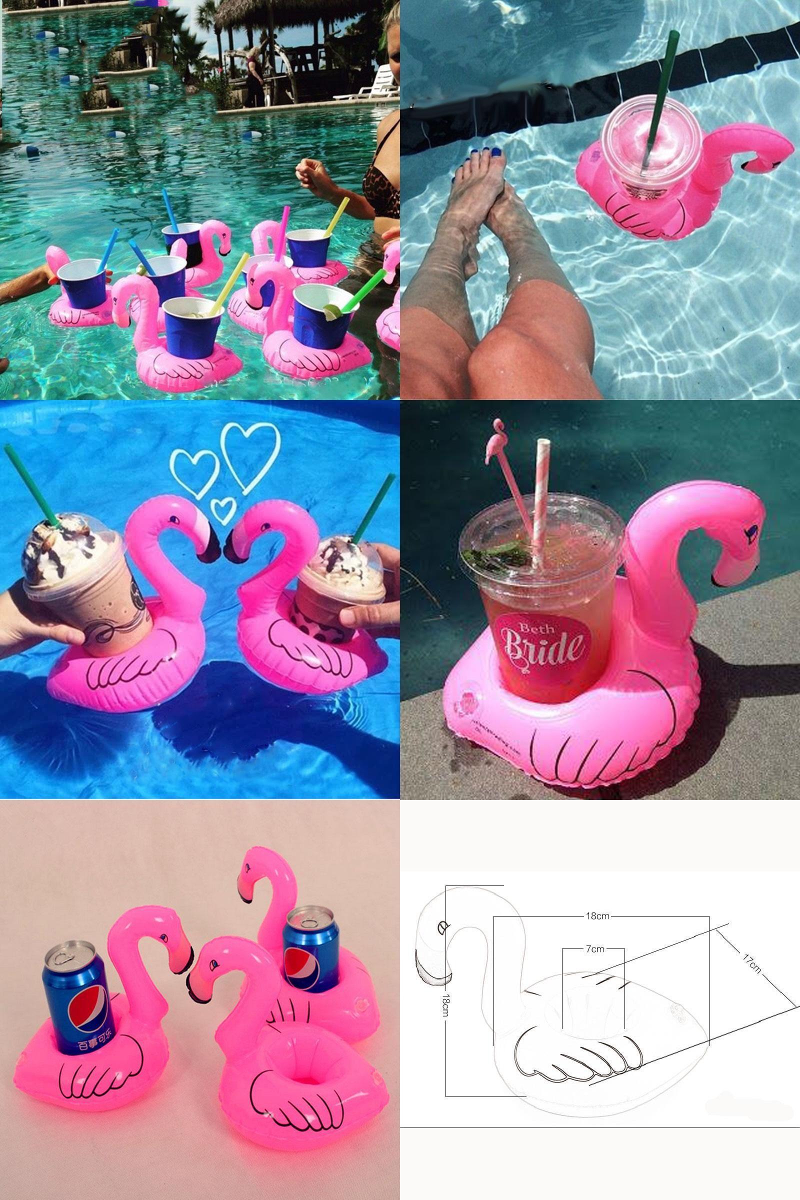 Visit to Buy] Mini Flamingo air mattresses Inflatable Water