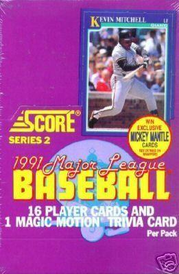 1991 Score Major League Series 2 Baseball Cards Unopened Box