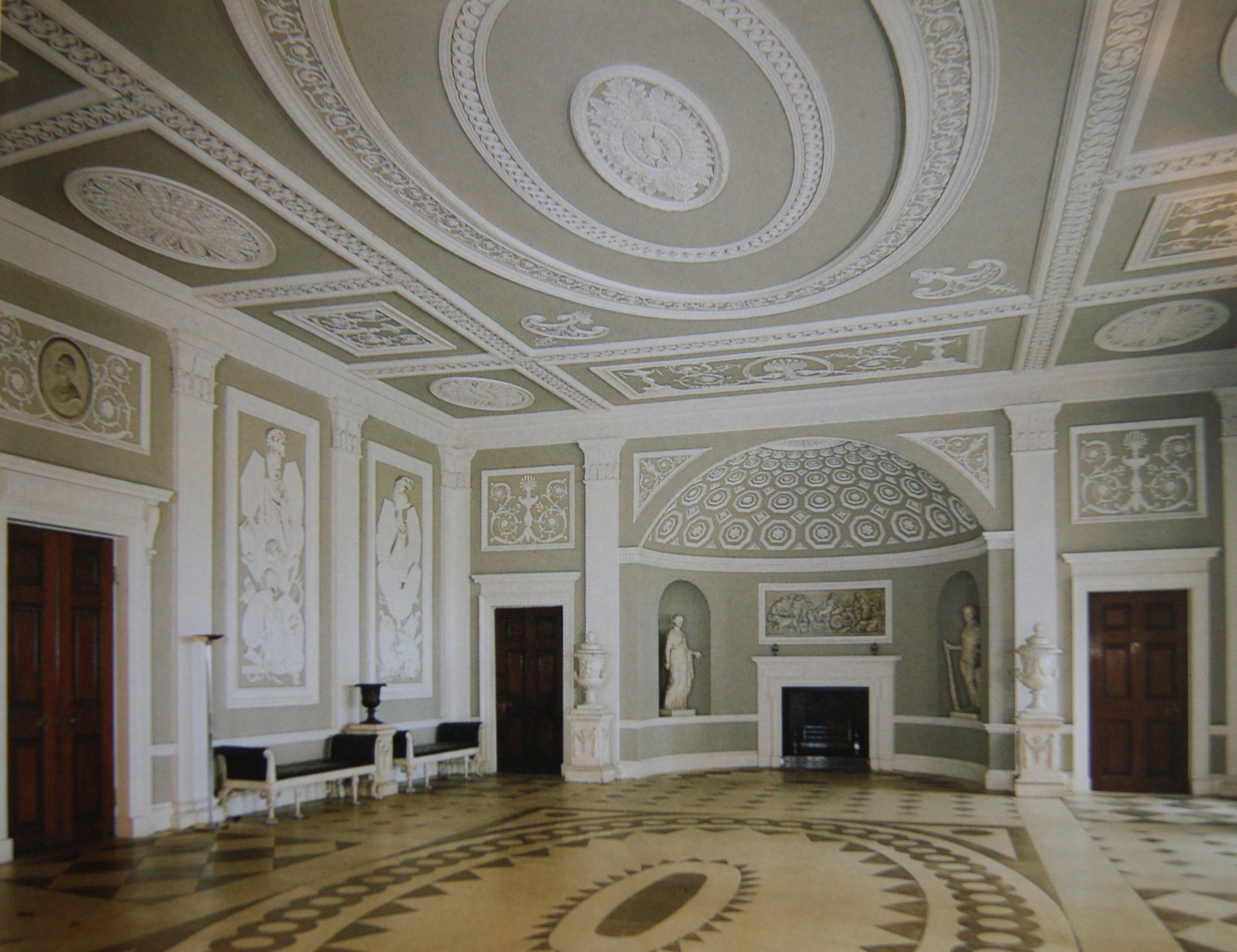 Robert Adam designed Syon House in the Neo-Classical style through to  century). The colours and designs of Wedgeworth china echo the decoration  of walls and ...