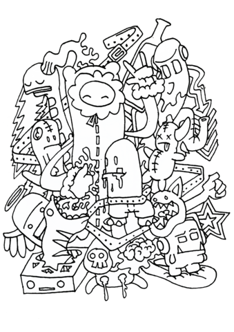 doodle rocking coloring page all about drawing coloring pages rh pinterest com