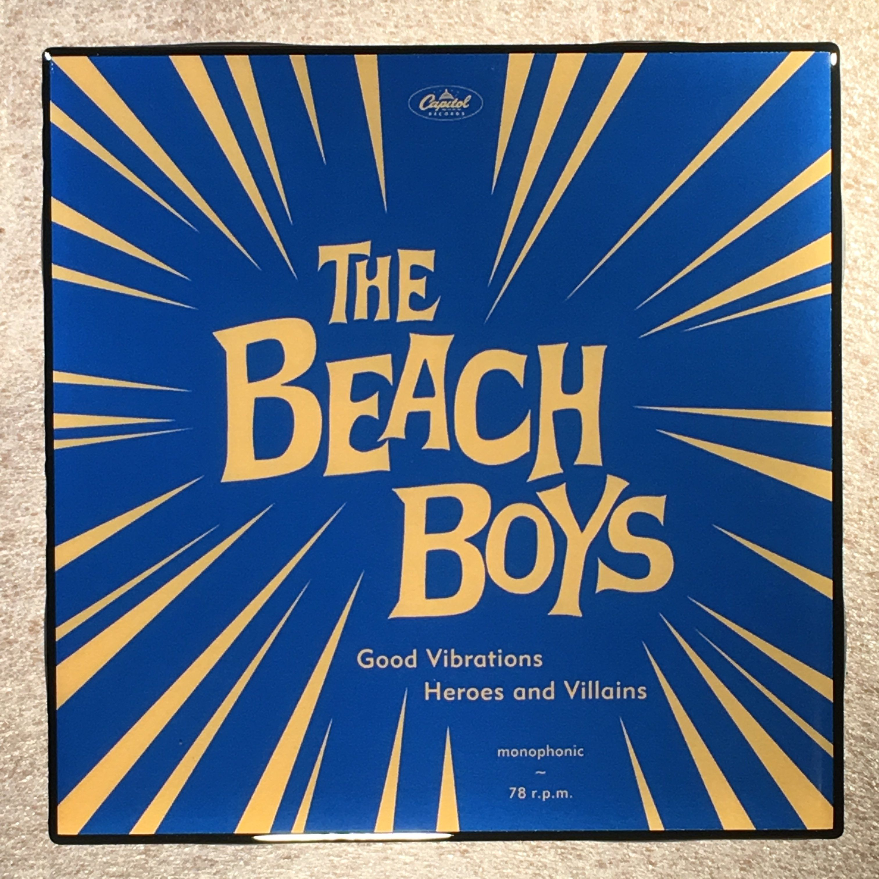 The beach boys good vibrationsheroes and villians coaster record the beach boys good vibrationsheroes and villians coaster record cover ceramic tile dailygadgetfo Choice Image