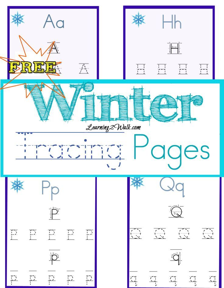 Winter Tracing Pages | Homeschool, Learning italian and Learning