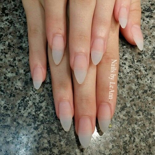 Fake Nails Shape Almond Natural Stiletto Acrylic Birthday Prom Matte
