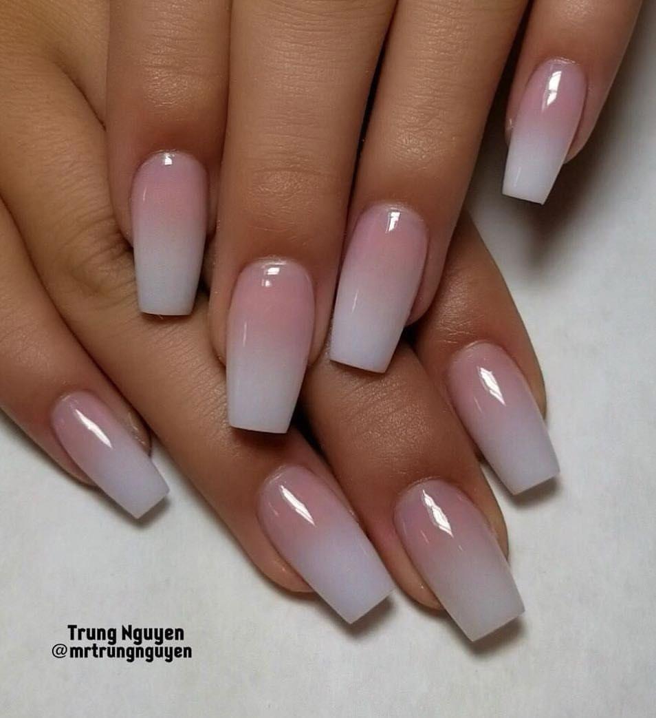 Simple short nails🌸🌸💖💖 #ombrenails #allacrylic # ...