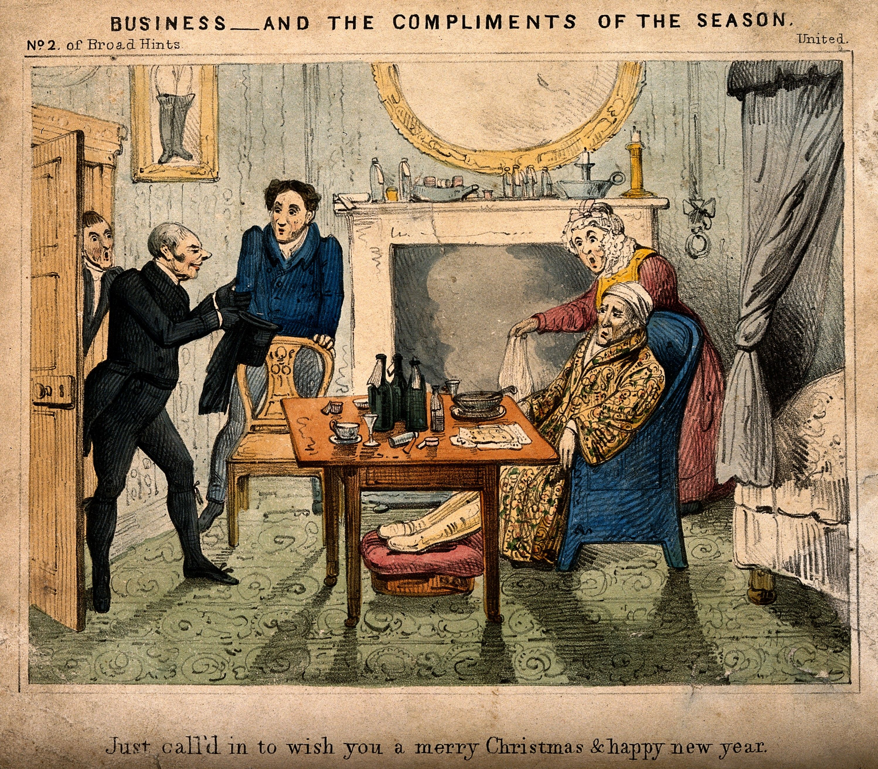 19th century british christmas and new year greetings from a doctor to a patient