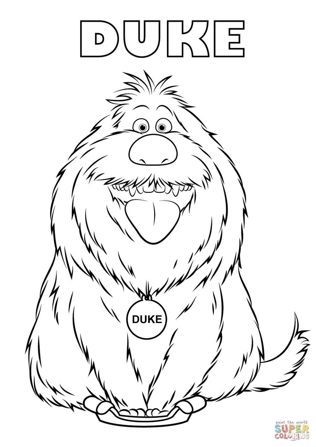 Pet Coloring Pages Pets Coloring Pages Duke From The Secret Life