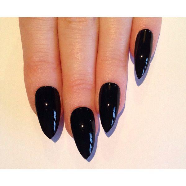 Black Stiletto nails, Nail designs, Nail art, Nails, Stiletto nails,... ($17) ❤ liked on Polyvore featuring beauty products, nail care, nail treatments, nails, makeup, beauty, nail polish and unhas