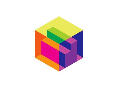 Letter D Cube For A 3d Scanner Isometric Logo Design Symbol Logo Design 3d Logo Design Identity Design Logo