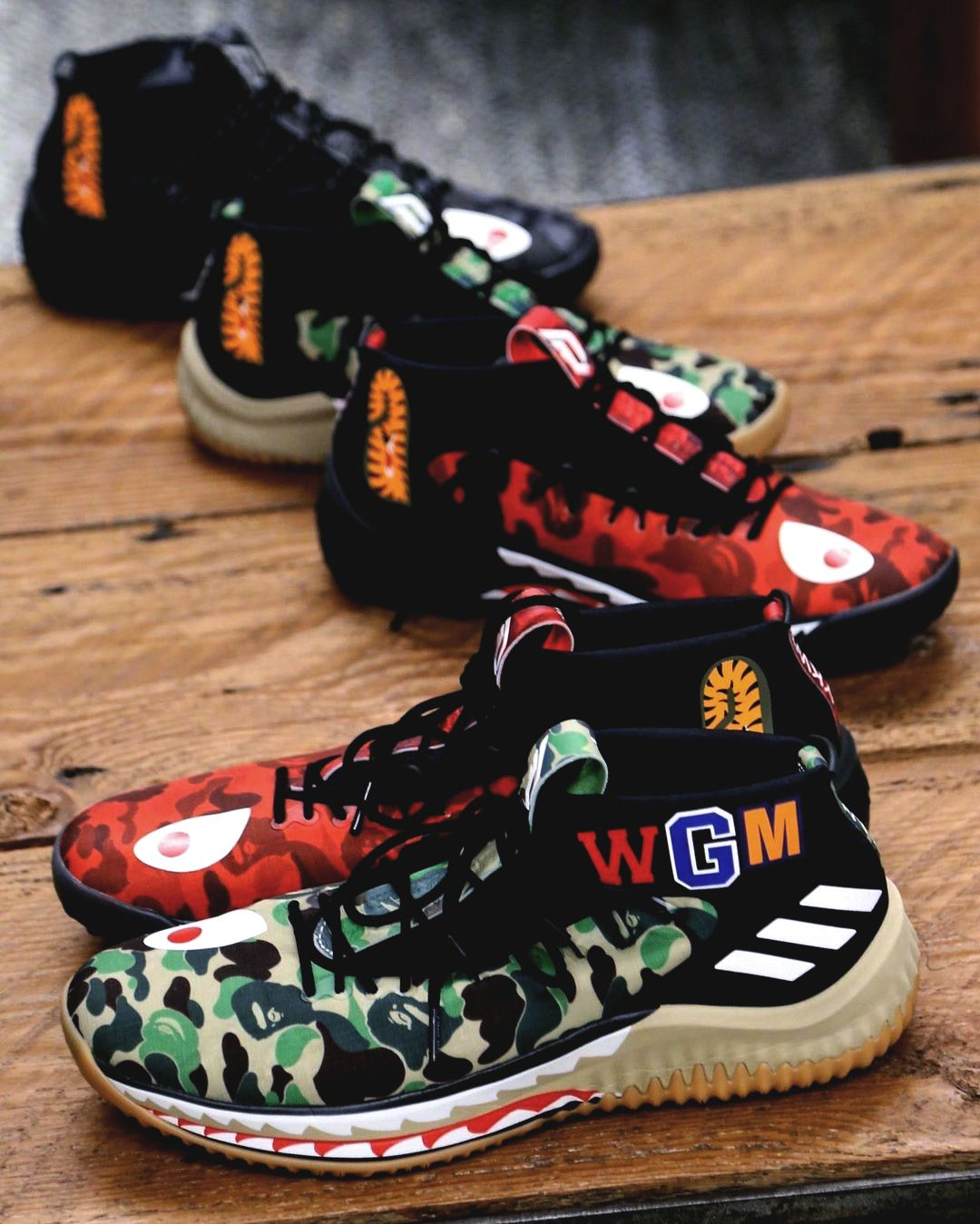 super popular efe62 db747 Bape collabs with Adidas once again, this time in the form of the Damian  Lillards signature shoe