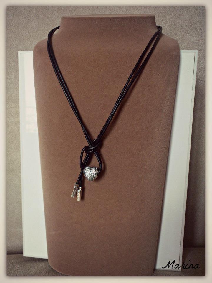 2fed1db97 Pin by Janet Colley on Pandora | Pandora leather, Pandora necklace, Pandora  bracelets