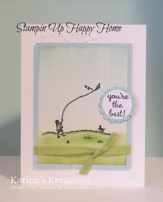 Stampin'Up Happy Home Brayer Card! www.karinaskreations.com