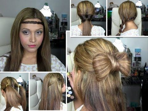 six hair styles quick and easy school work or going