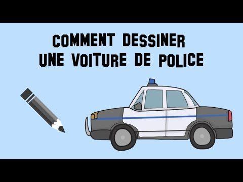 comment dessiner une voiture de police mod le facile. Black Bedroom Furniture Sets. Home Design Ideas