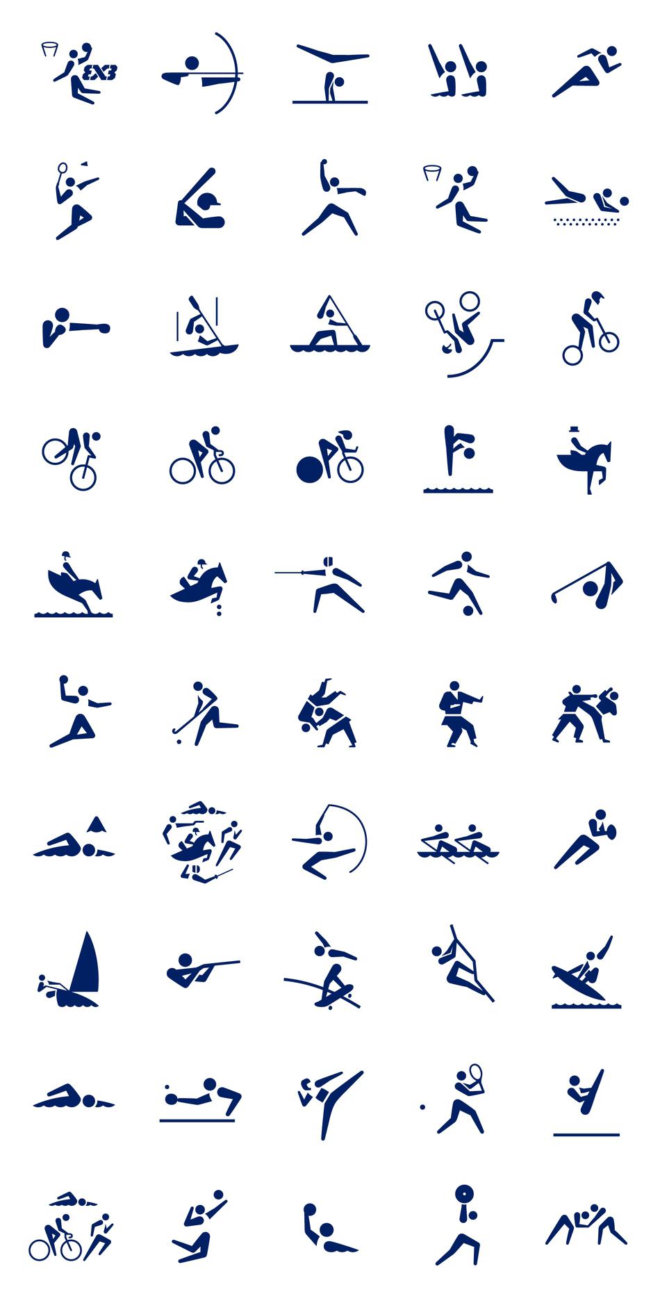 激發人民熱情!東京奧運會體育圖標ICON正式發布(附歷屆圖標ICON) Tatuagem de corredor