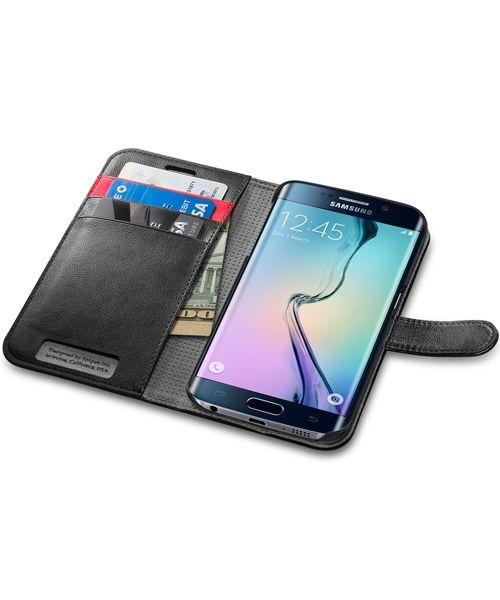 6ddf5157cdd Smartphone · Elektronica · Spigen Wallet S Flip Case Samsung Galaxy S6 Edge  Black Portemonnee, Zwart, Accessoires,