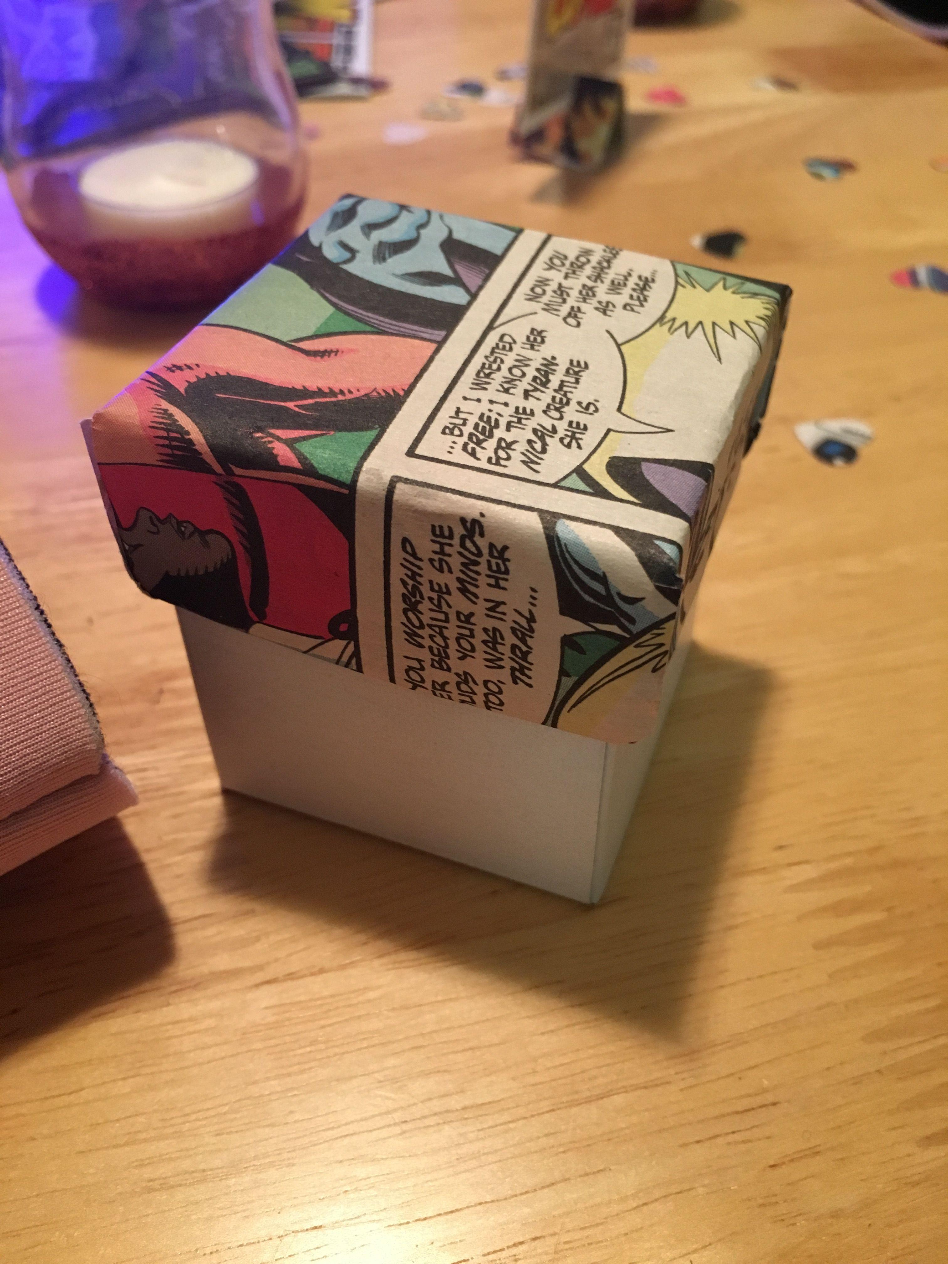 Handmade Candy Boxes Comicbookwedding Crafty