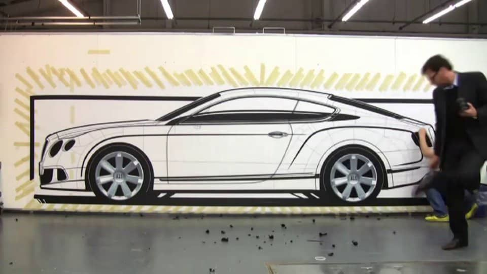Tape Drawing Technique | Drawing techniques, Bentley continental ...