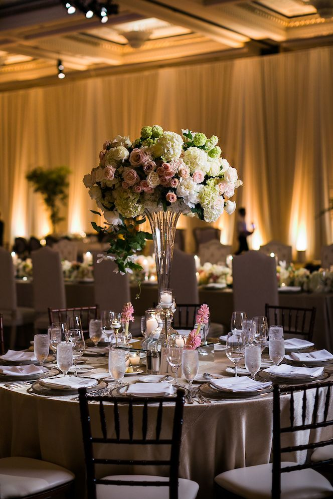 Blush Pink Centerpieces Candlelight Centerpieces Blush Champagne
