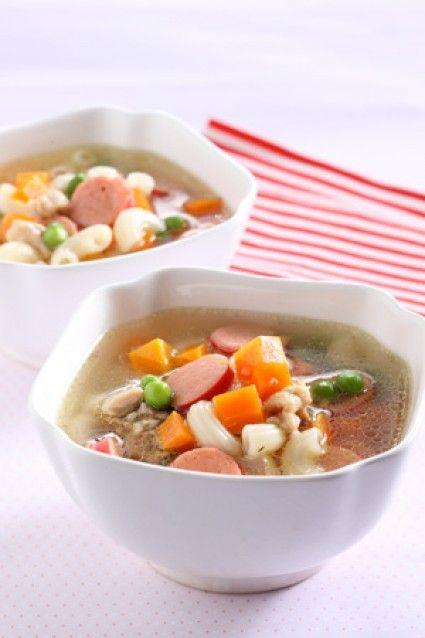 Sup Sosis Makaroni Sajian Sedap Resep Masakan Fotografi Makanan