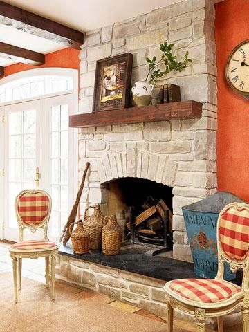 Give Your Kitchen A French Country Look French Country Fireplace