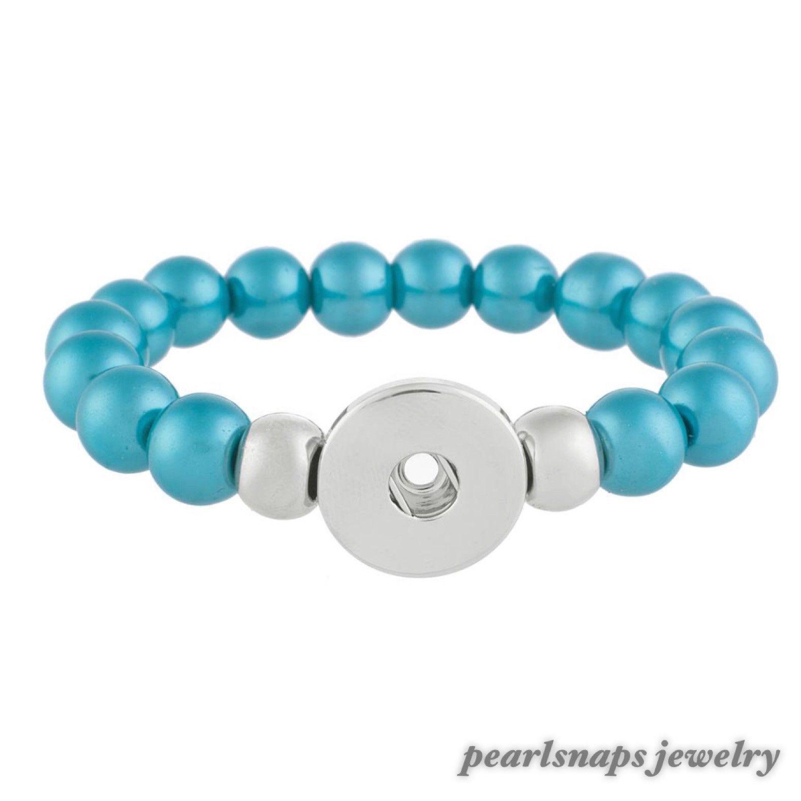Ashley Beaded Stone Stretch Aqua Pearl