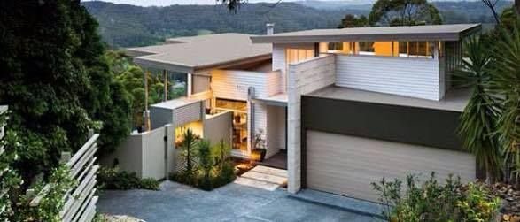 Skillion Roof Modern Render Dark And Light Haymes Paint Exterior Colour Scheme Haymes Night