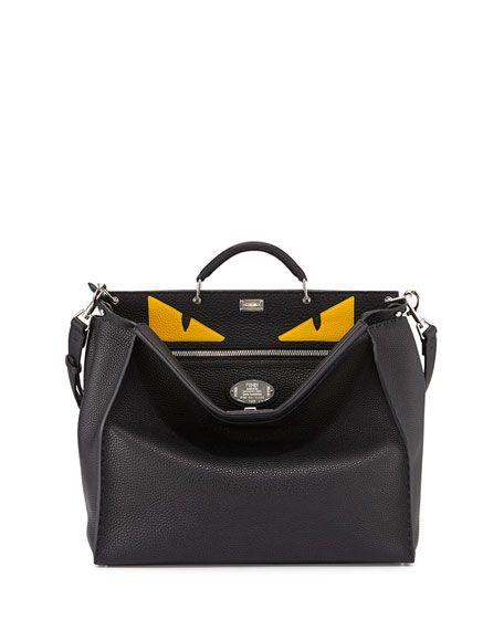 Men s Monster Eyes Peekaboo Bag, Black Yellow   Sac à main Design ... 69c00897a82