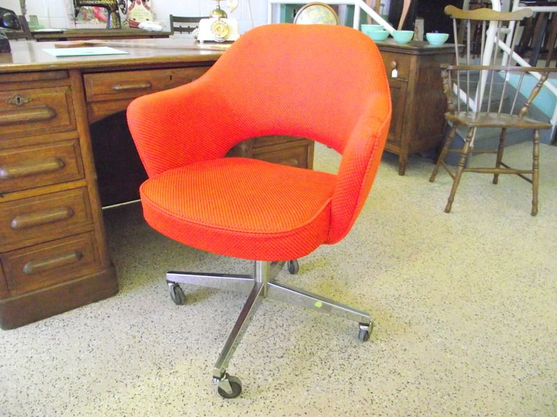 Authentic Saarinen Knoll Retro Orange Executive Office Task Chair With Label Nh Vintage Retro Office Chair Orange Office Chairs Furniture