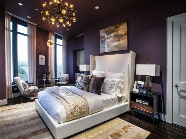 Farbgestaltung für Schlafzimmer \u2013 das geheimnisvolle Lila - farbgestaltung fur schlafzimmer das geheimnisvolle lila
