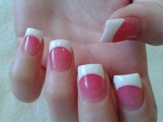 Pink Powder Nails Google Search Pink Acrylic Nails French Acrylic Nails Fall Acrylic Nails