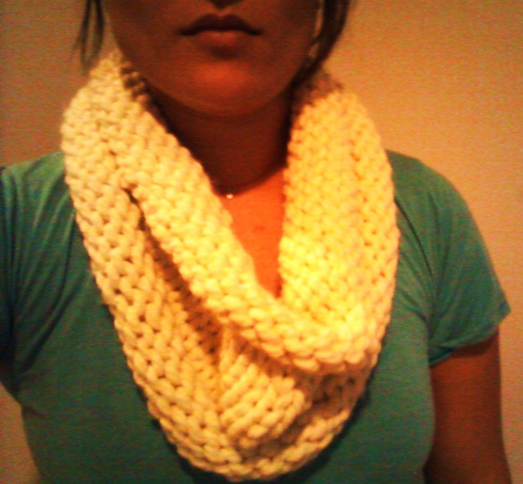 I knit this cowl while catching up on \