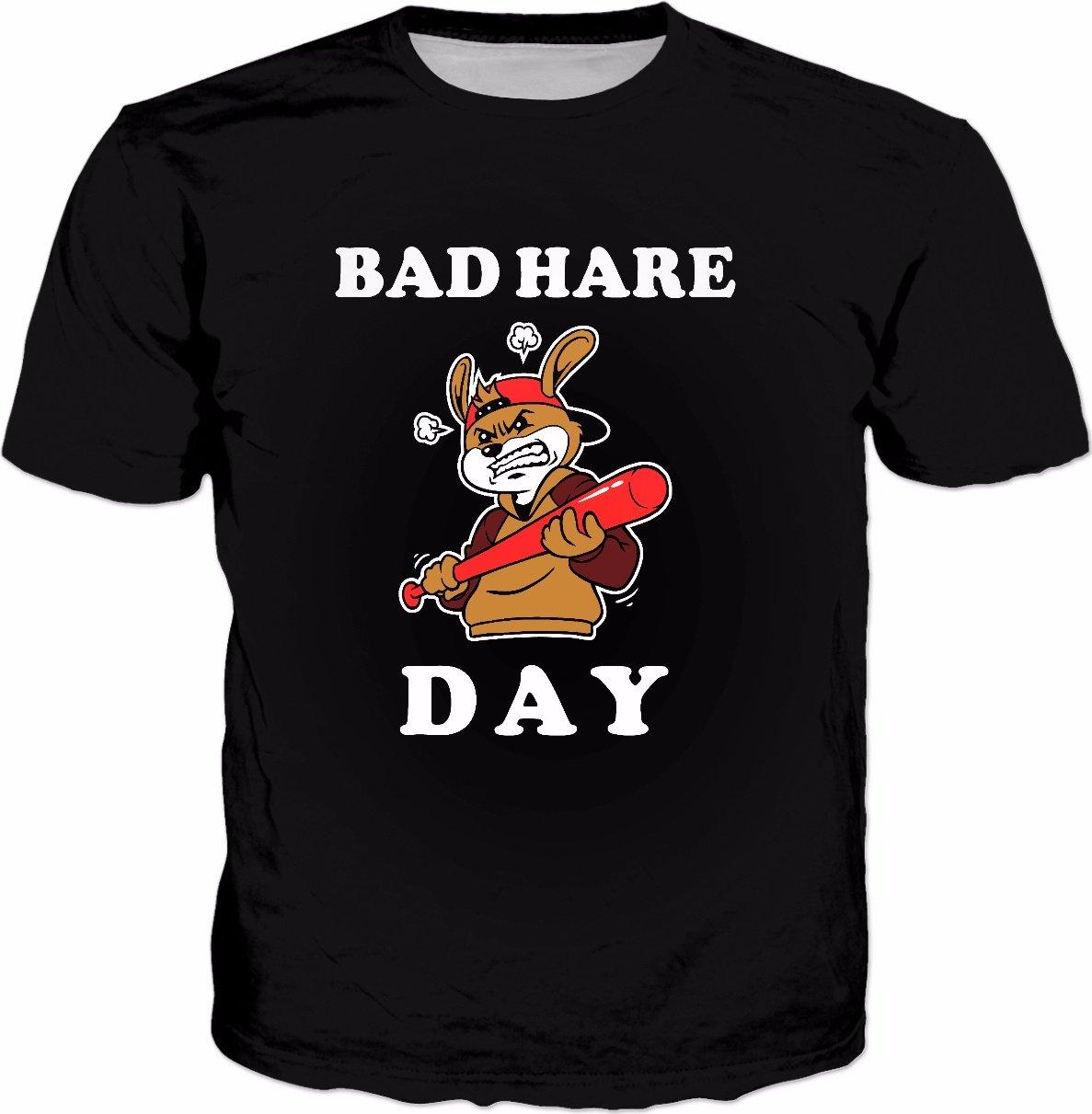 Bad hare day tshirt rabbit bad hair pun shirts t