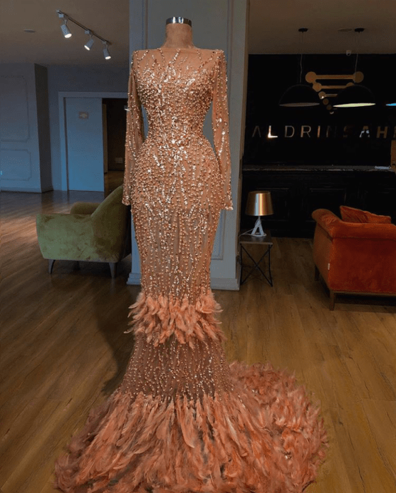 0422be9ea5bd5 Price of valdrin sahiti | Gowns in 2019 | Feather prom dress, Prom ...