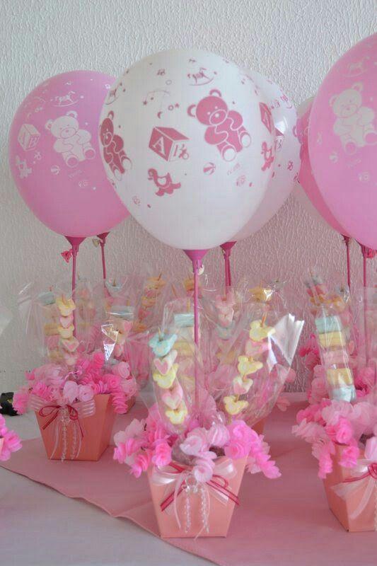 Decoracion De Mesa Para Baby Shower Ni�a : decoracion, shower, Centro, Mesas, Shower, Bautizo,, Infantil,, Globos