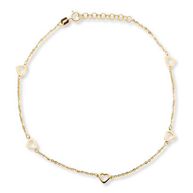 solid long gold claddaugh dp inch bracelet ankle anklet