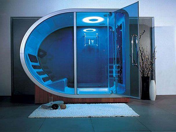 Futuristic Design Ideas Steam Shower By Linea Aqua Steam Shower Enclosure Amazing Showers Steam Showers