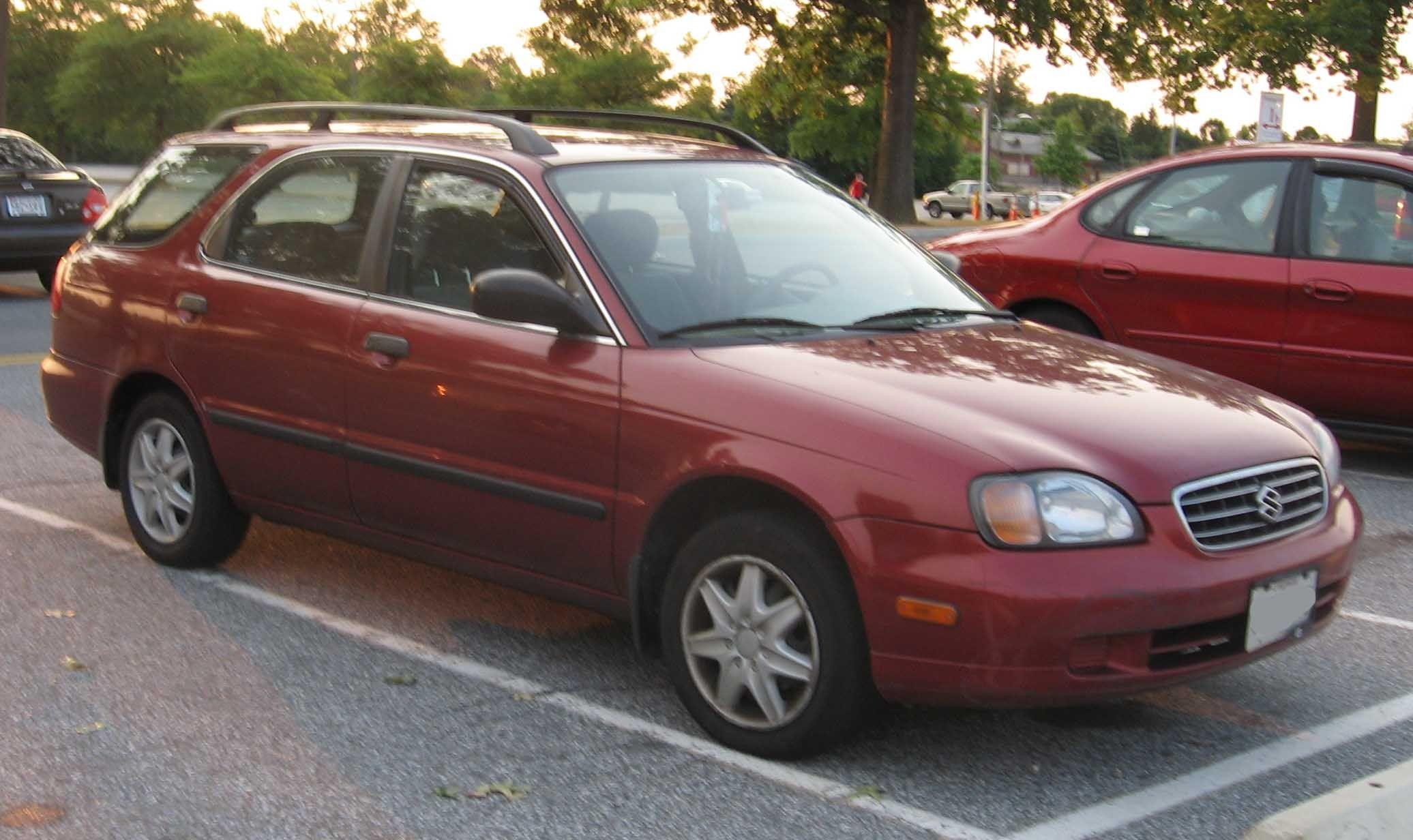 one of our many company cars suzuki esteem wagon family car rh pinterest  com 1996 Suzuki X90 Suzuki Esteem 1996 Purple